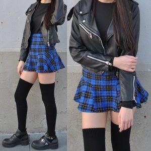 NWT LF Millau Plaid Trumpet Mini Skirt
